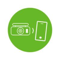 Dash cameras with smartphone app